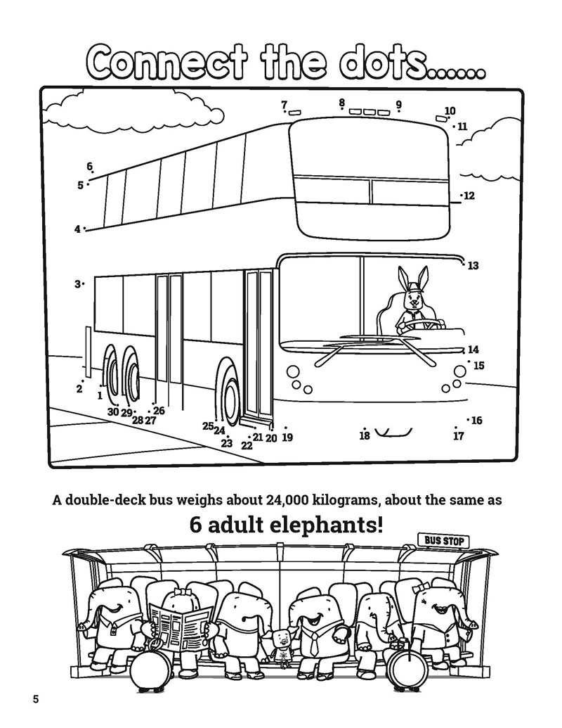 Activity Book Pages – Kids Ride the Bus